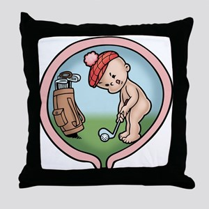 On the Front Nine Throw Pillow